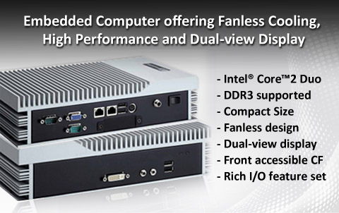 Fanless Embedded PC: Anewtech eBOX630-850-FL