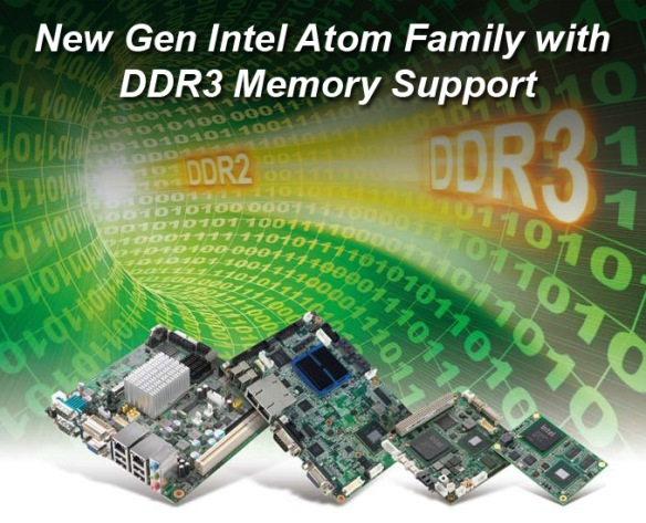 Intel Atom Family with DDR3 Memory Support