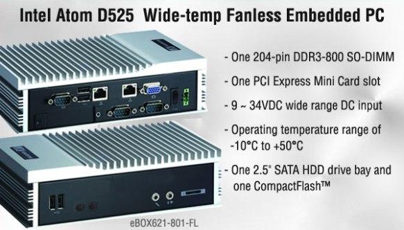 Anewtech-Embedded-PC: eBOX621-801-FL