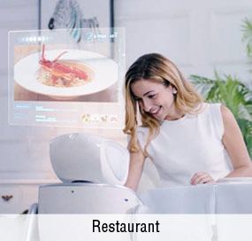 Anewtech-service-robot-sanbot-appliction-restaurant